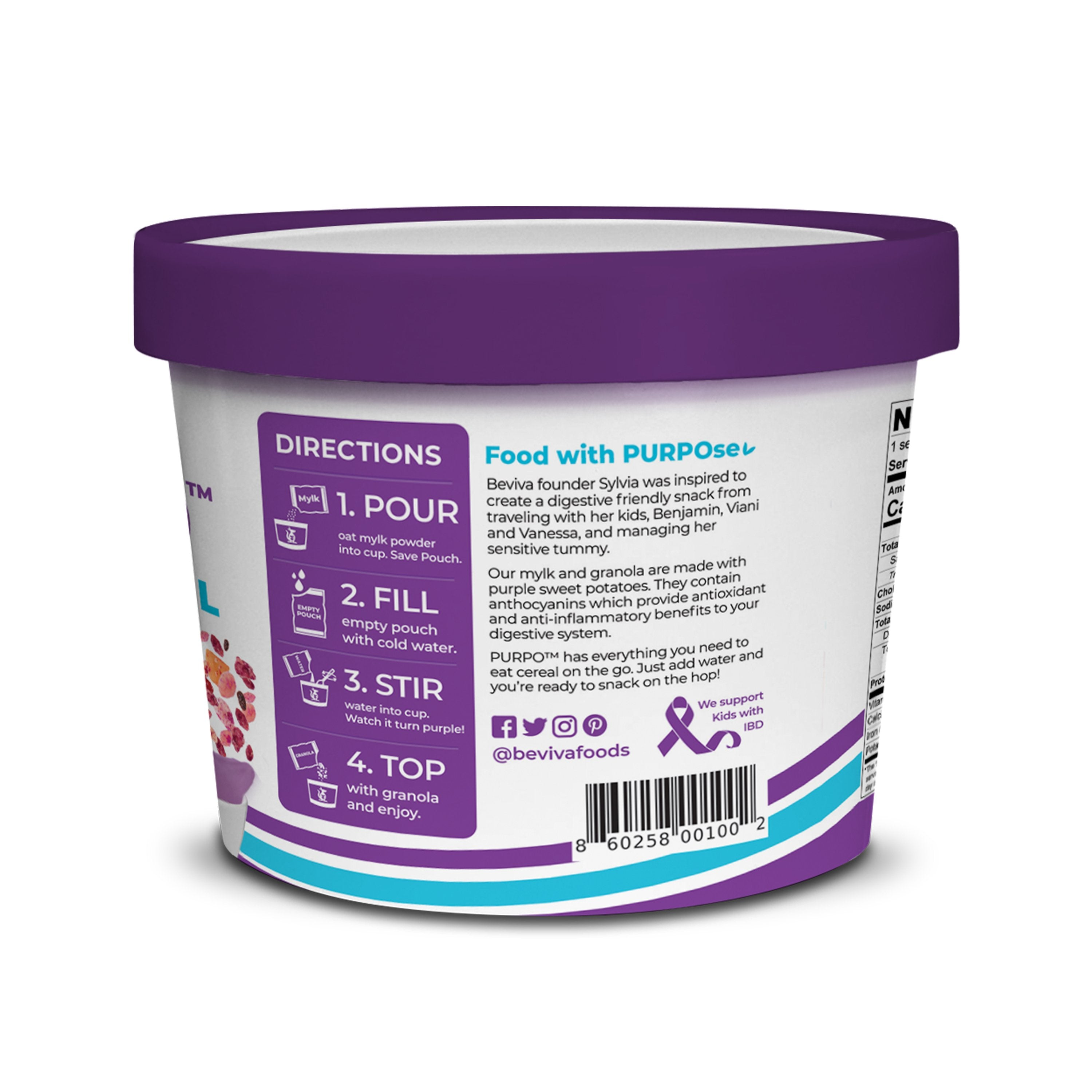 PURPO All-in-One Cereal Cup 1.73 oz