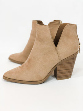 Hot Steppin' Ankle Booties - Camel