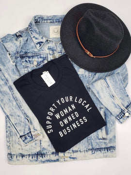 Local Women Owned Business Tee - Black