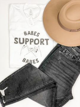 Babes Support Babes Tee - White