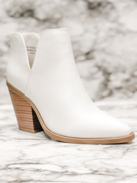 Hot Steppin' Ankle Booties - White