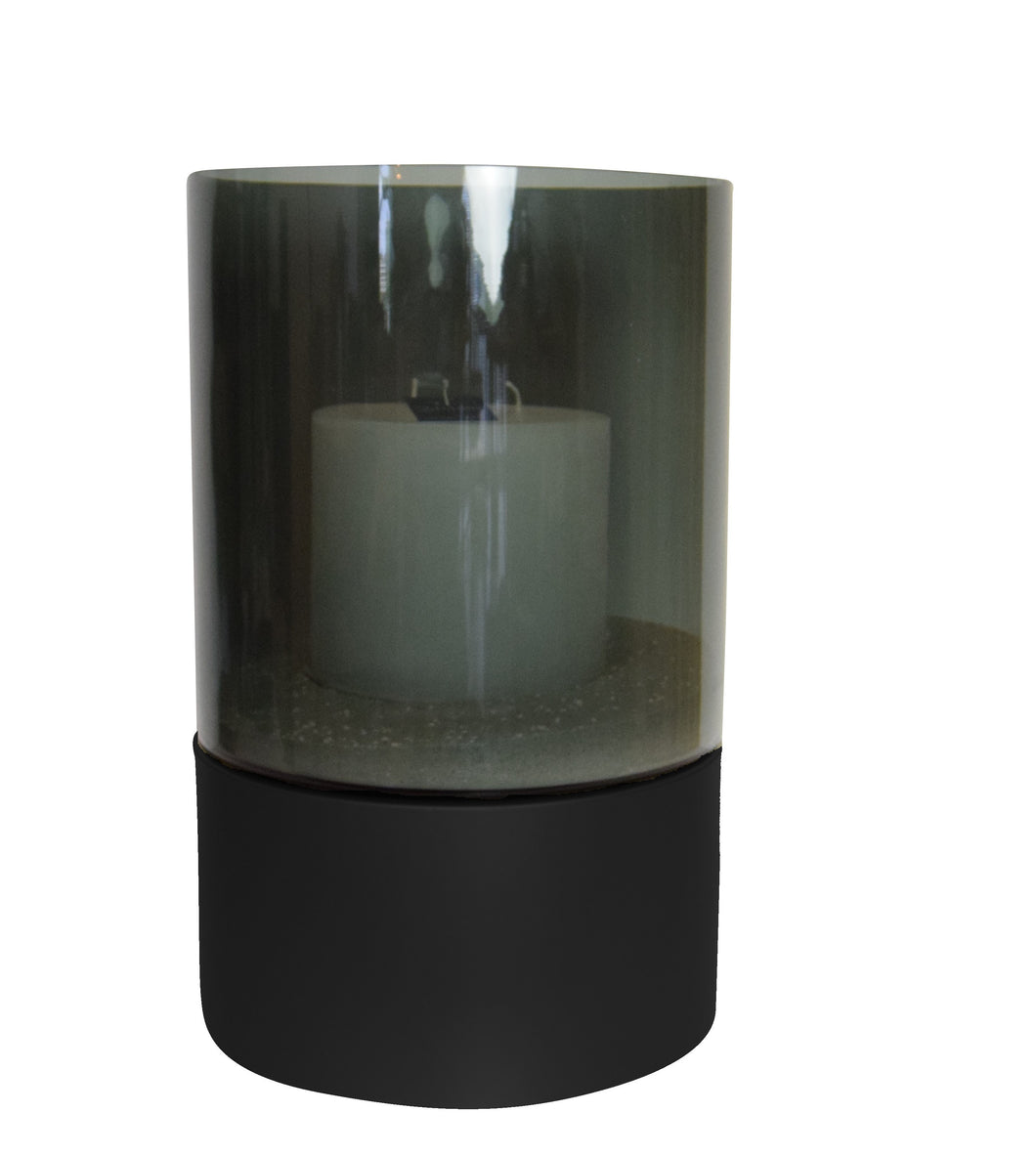 Haans Lifestyle Pillar Candle Holder Lead Black