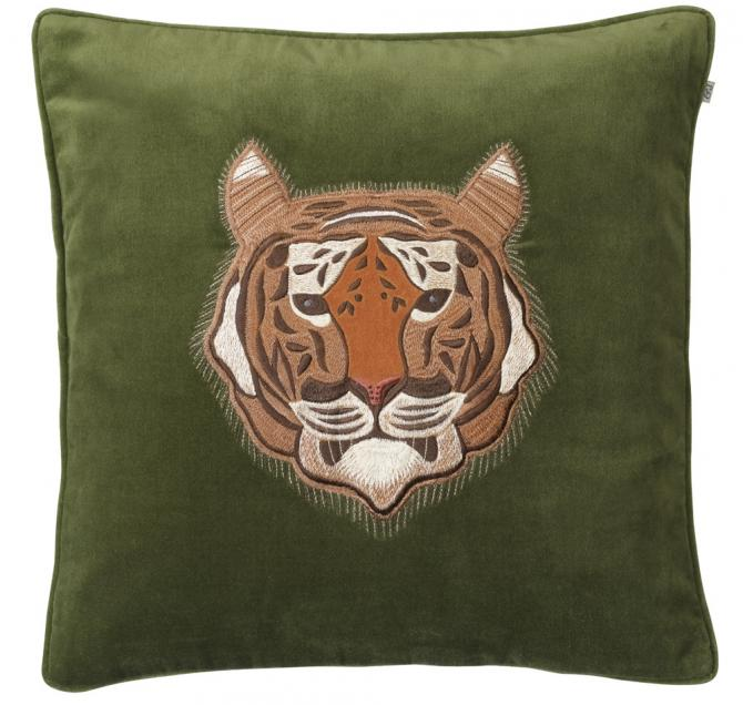 Cushion cover velvet embroidered tiger - BB InteriorChhatwal & JonssonCushion