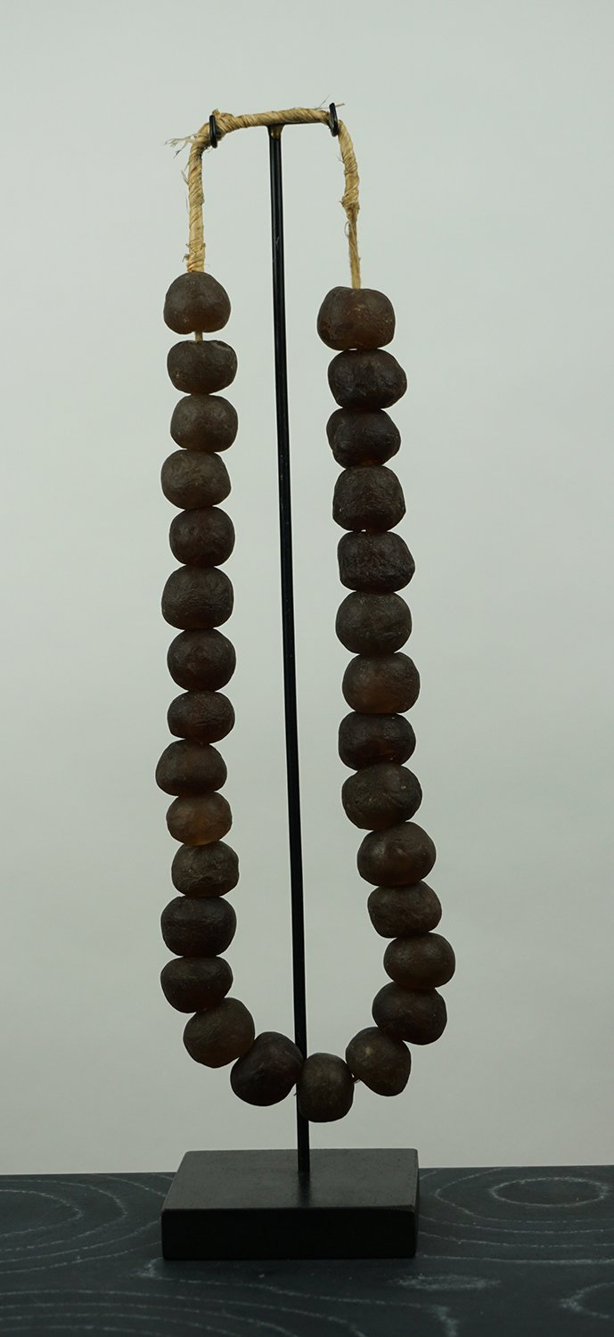 Glass beads necklace large brown - BB InteriorO-livehome decor