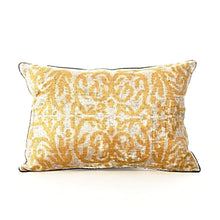 BB Interior Handmade Cushion Velvet Yellow Blue