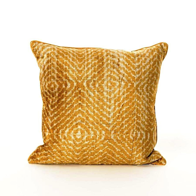 BB Interior Handmade Cushion Velvet Yellow Black