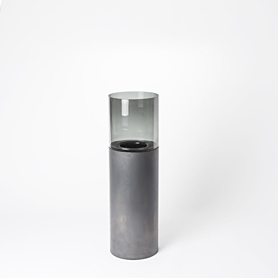 Haans Lifestyle Pillar Candle Holder Lead Gray