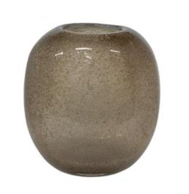 Taupe Vase Glass Oval - BB InteriorMDGlass