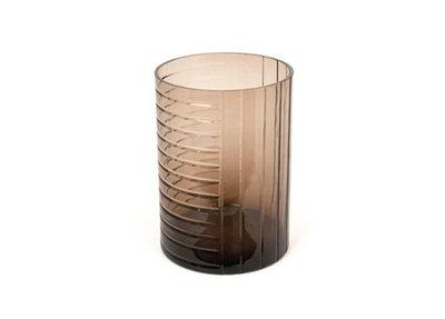 Vase Glass Brown With Structure - BB InteriorDôme DecoVase