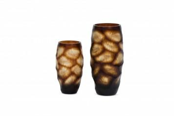 Vase Glass Brown - BB InteriorDeco CandleVase