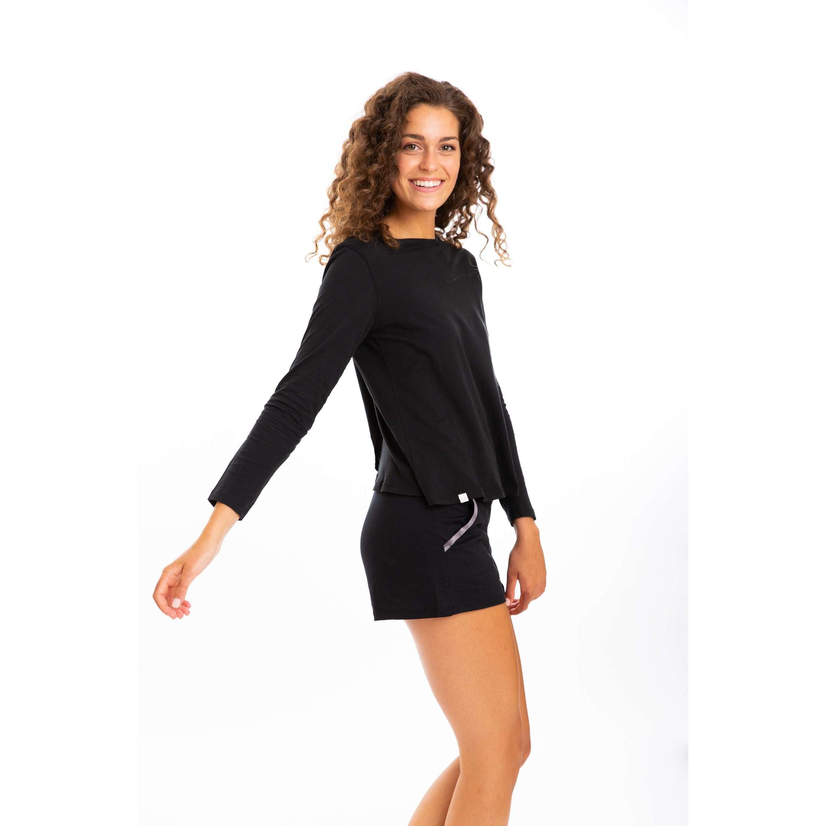Leena & Lu:The Pima Short,S / Black,SHORTS