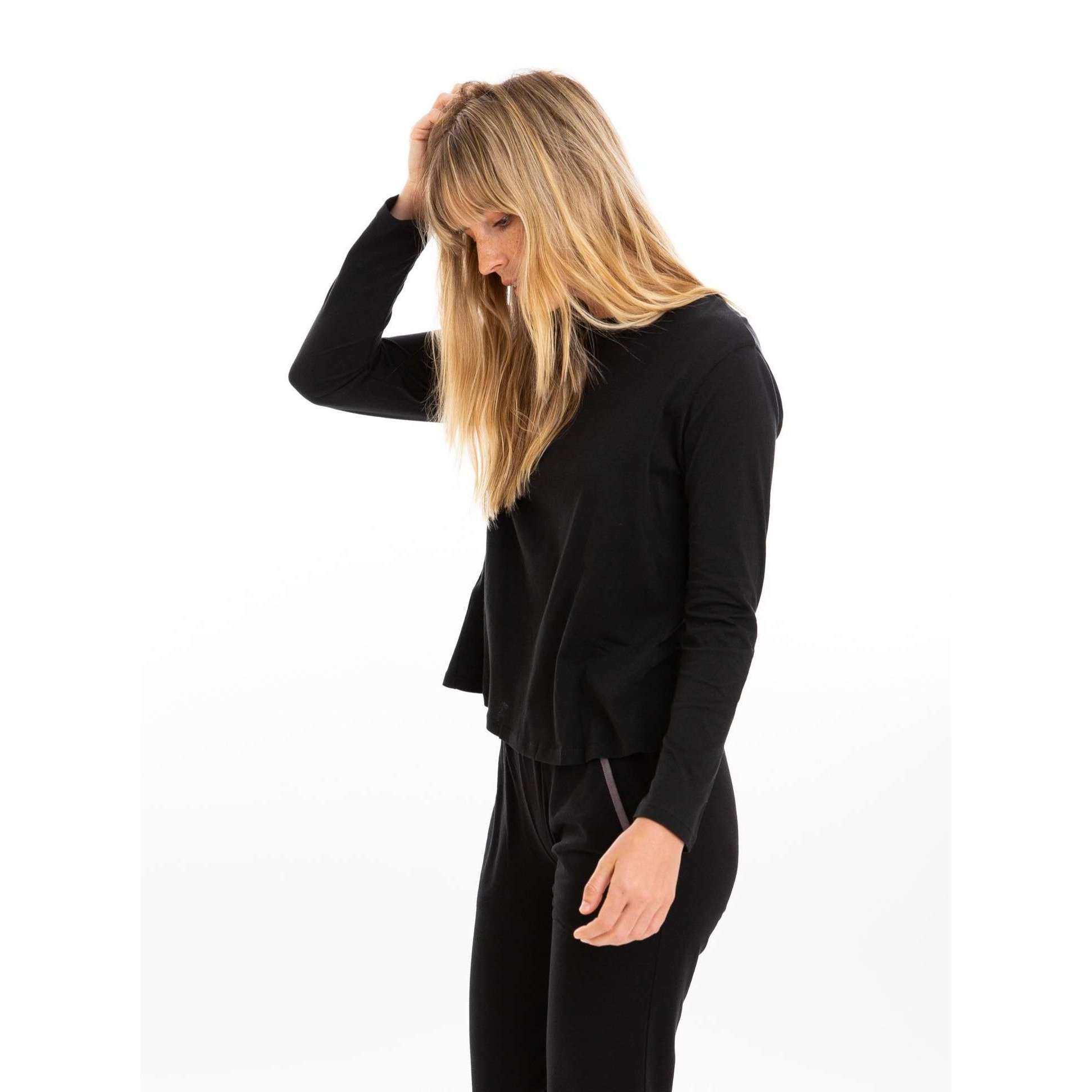 Leena & Lu:The Pima long sleeve Shirt,T-SHIRT