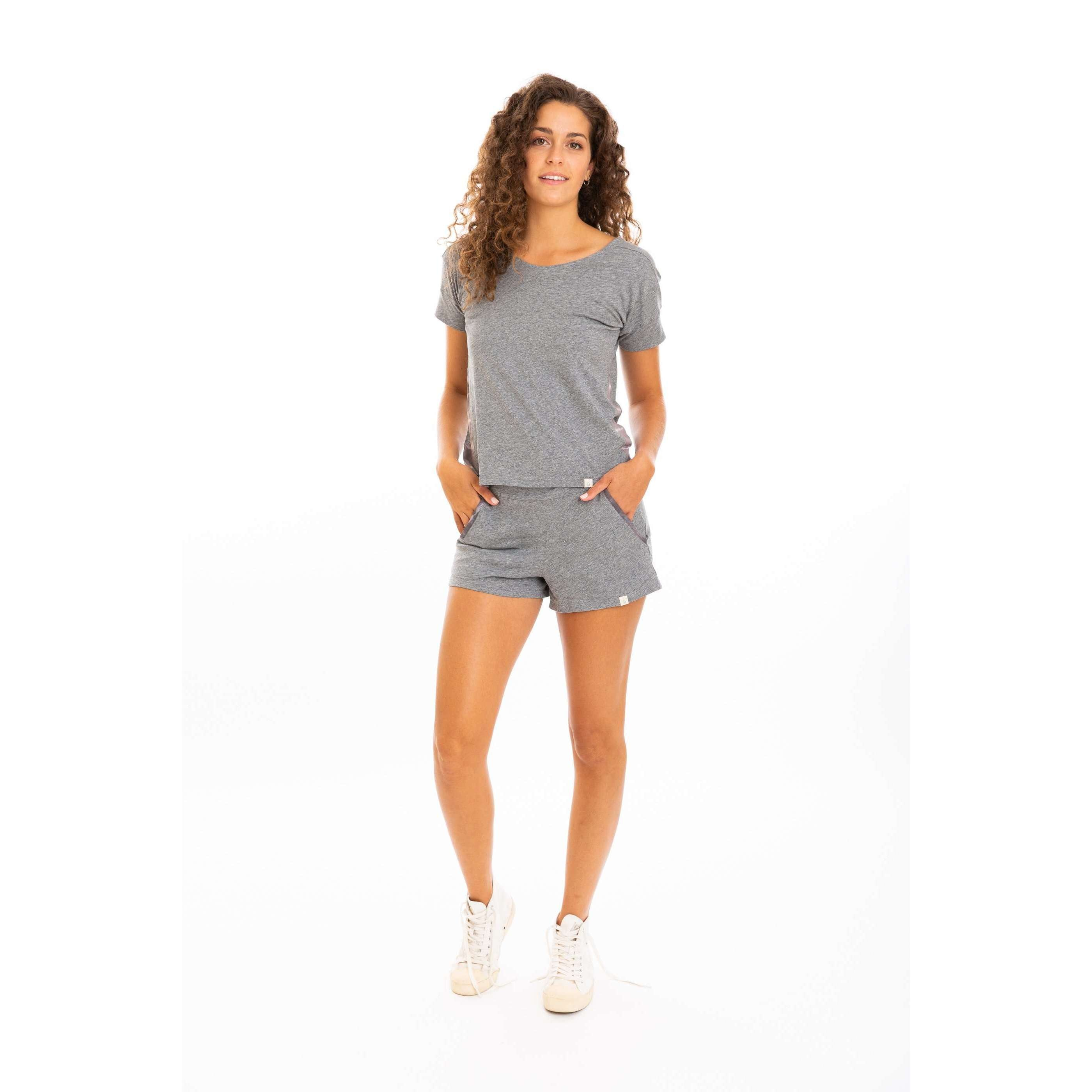 Leena & Lu:The Pima Short,S / Heather grey,SHORTS