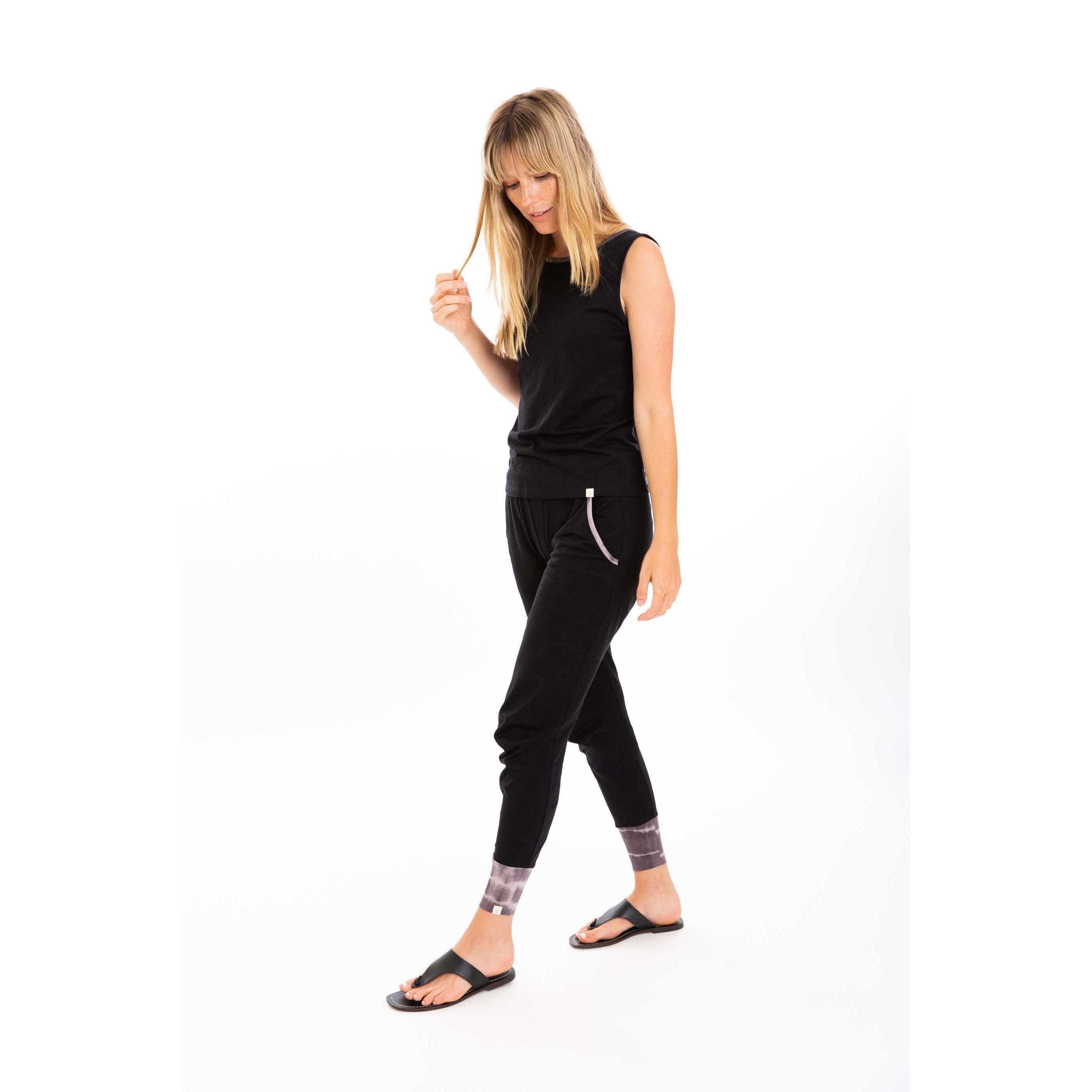 Leena & Lu:The Pima jogger,S / Black,PANTS