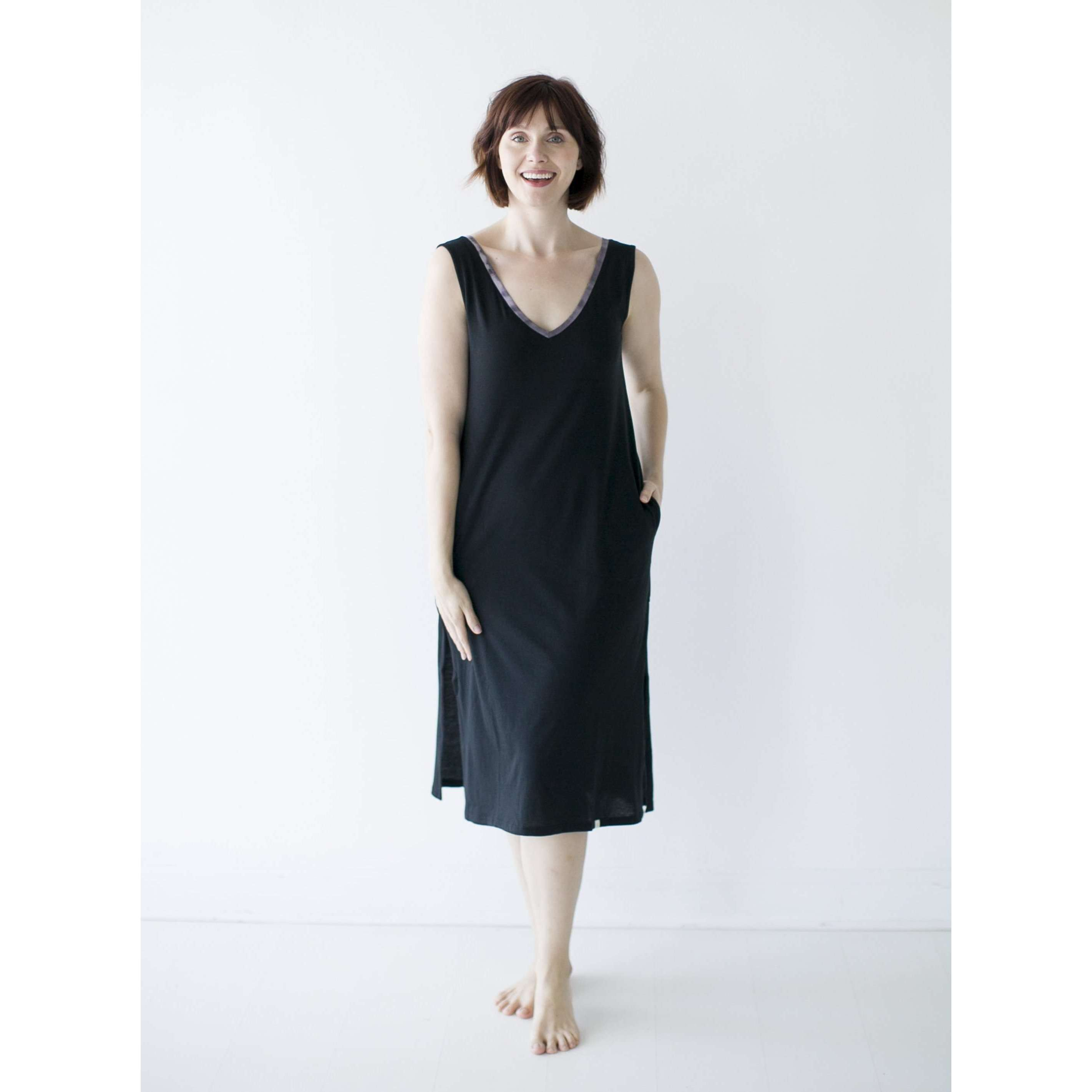 Leena & Lu:The Pima Long Dress,DRESS