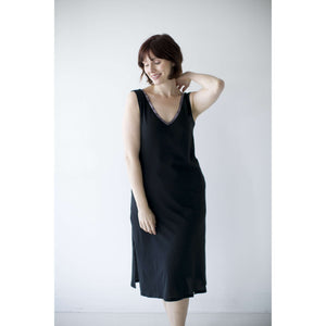 Open image in slideshow, Leena & Lu:The Pima Long Dress,XS / Black,DRESS