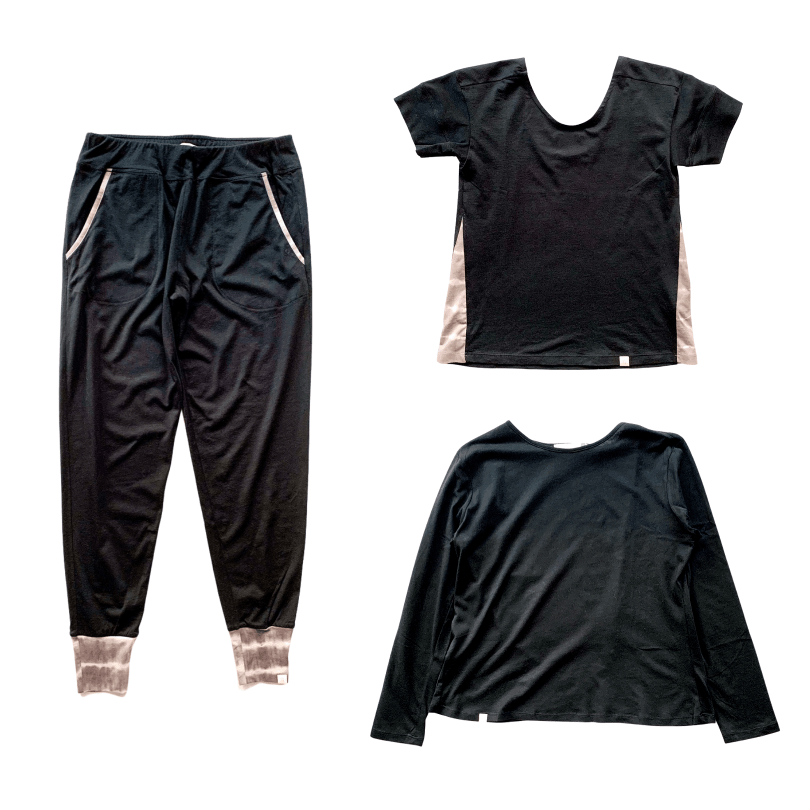 Leena & Lu:Black Jogger + Short Sleeve + Long Sleeve Bundle,PANTS