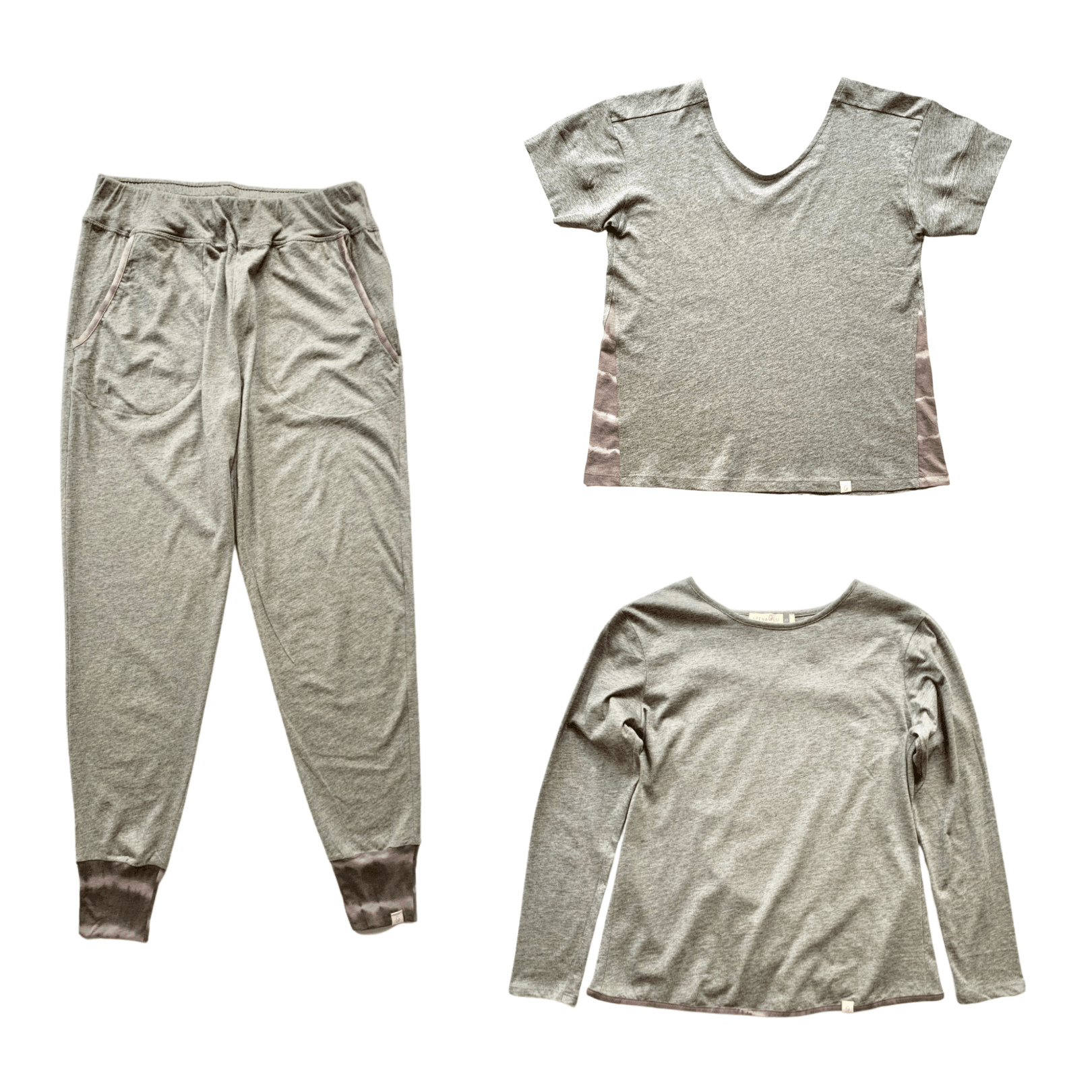 Leena & Lu:Gray Jogger + Short Sleeve + Long Sleeve Bundle,PANTS