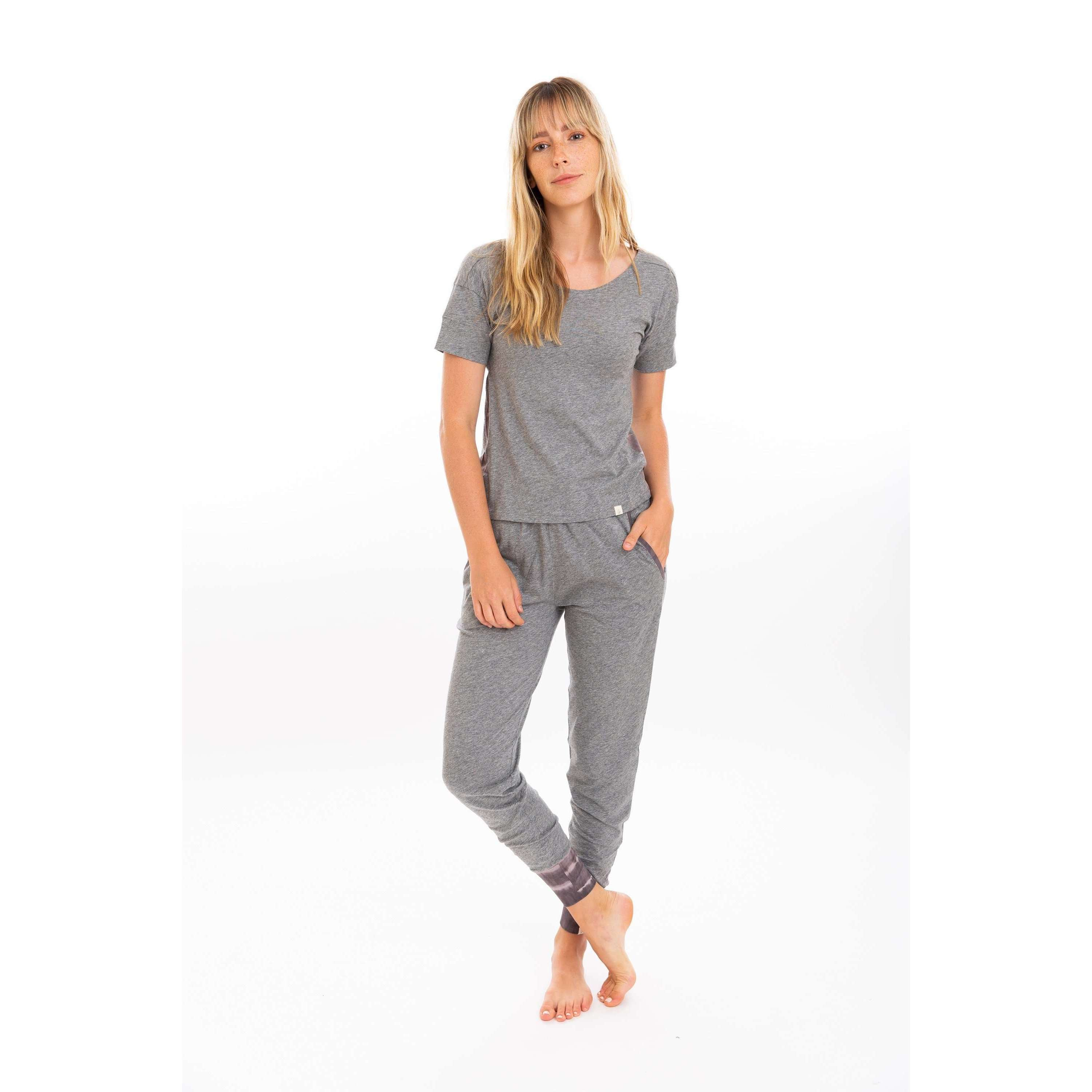 Leena & Lu:Gray Jogger + Short Sleeve + Long Sleeve Bundle,XS / Heather Gray,PANTS