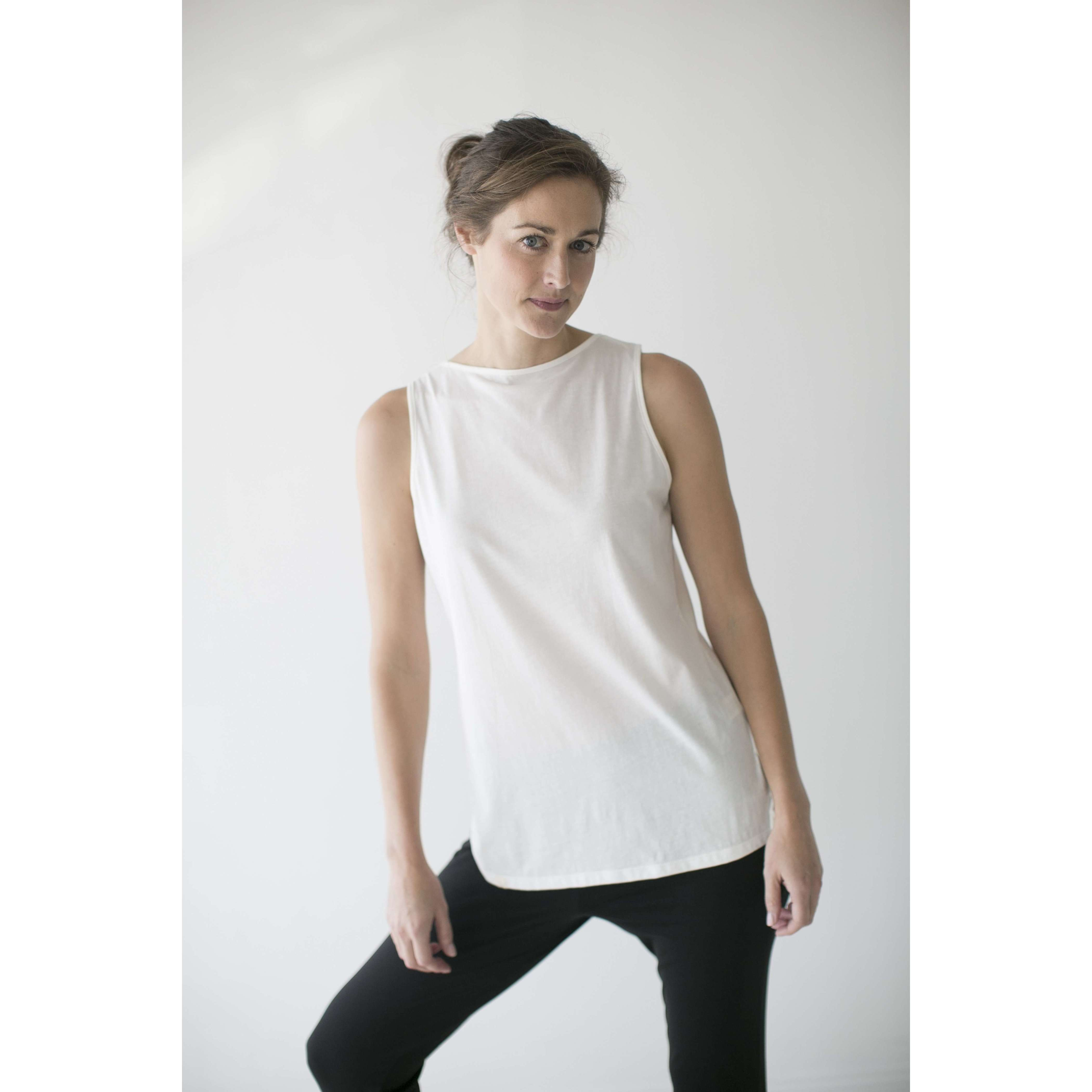 Leena & Lu:The Punta Sal Top,XS / Ecowhite,T-SHIRT
