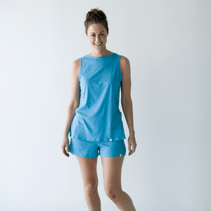 Leena & Lu:The Punta Sal Top,XS / Turquoise,T-SHIRT