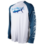 MAN IN THE BLUE SUIT LONG SLEEVE PERFORMANCE RAGLAN
