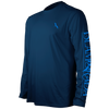 SAIL IN THE SPREAD INSET LONG SLEEVE PERFORMANCE MESH BACK