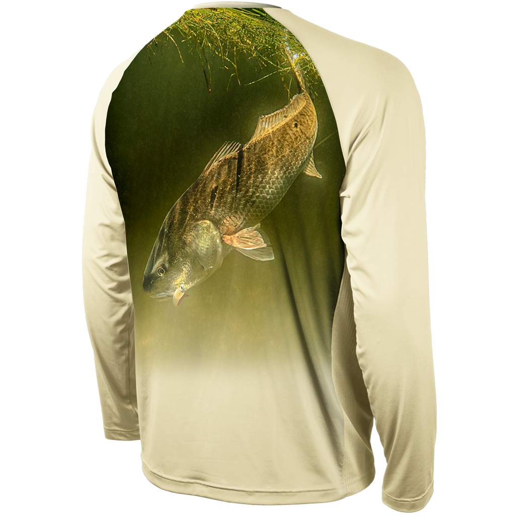 REDFISH STRIKE LONG SLEEVE PERFORMANCE RAGLAN