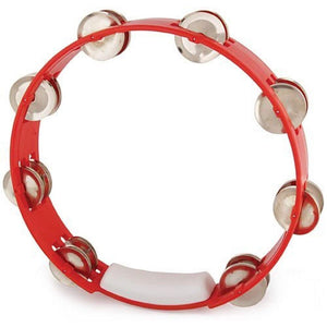 "RhythmTech TC4030 10"" Double Row Jingles Tambourine - Red"
