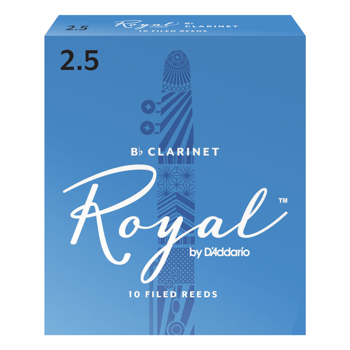 Rico Royal Clarinet Reeds Strength 2.5 10-Pack RCB1025