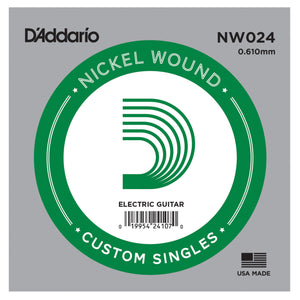 D'Addario NW024 Nickel Wound Single Guitar String .024