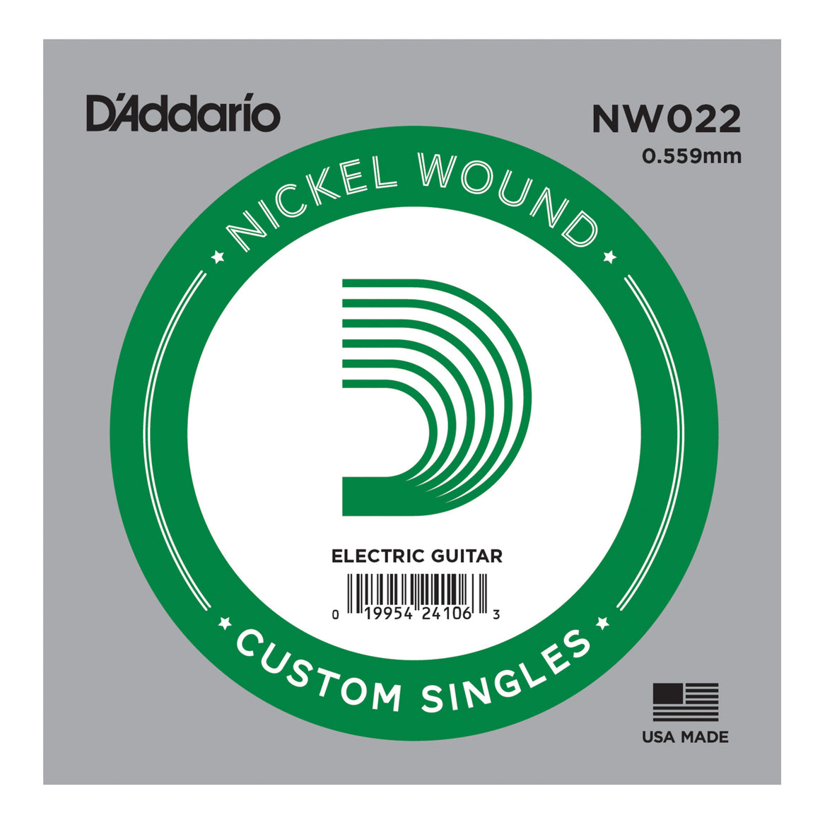 D'Addario NW022 Nickel Wound Single Guitar String .022