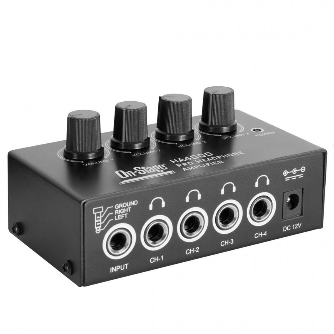 On Stage HA4000 4-Ch Headphone Amp