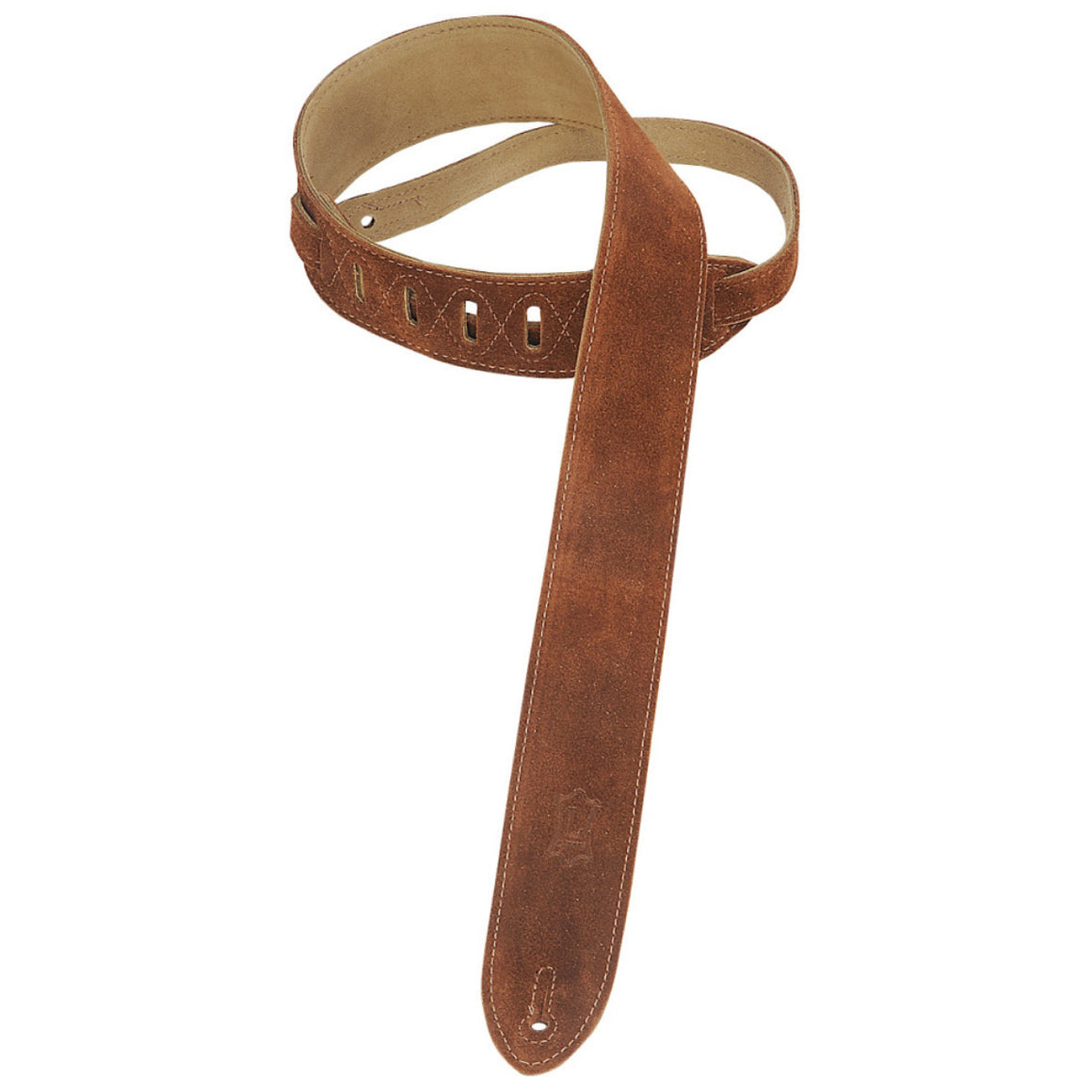 "2"" Levy's Brown Suede Leather Strap"