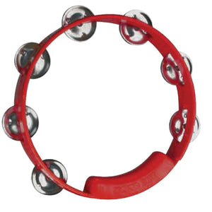 "RhythmTech TC4038 8"" Single Row Jingles Tambourine - Red"