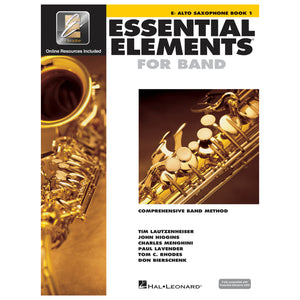 Essential Elements for Band – Eb Alto Saxophone Book 1 with Eei