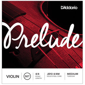 D'Addario Prelude 4/4 Full Violin Medium Strings Set J810 4/4M