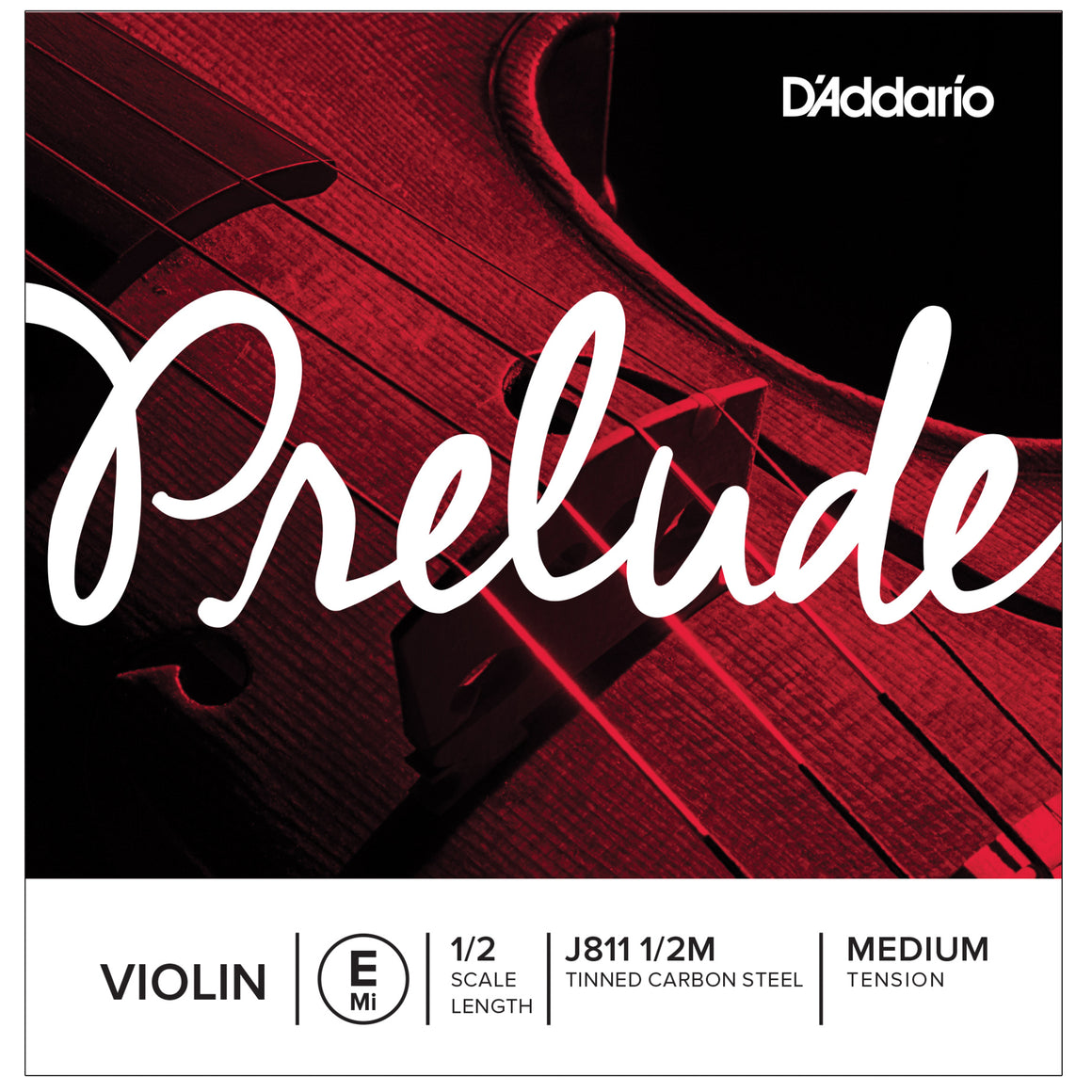 D'Addario Prelude 1/2 E Violin Single String Medium J811