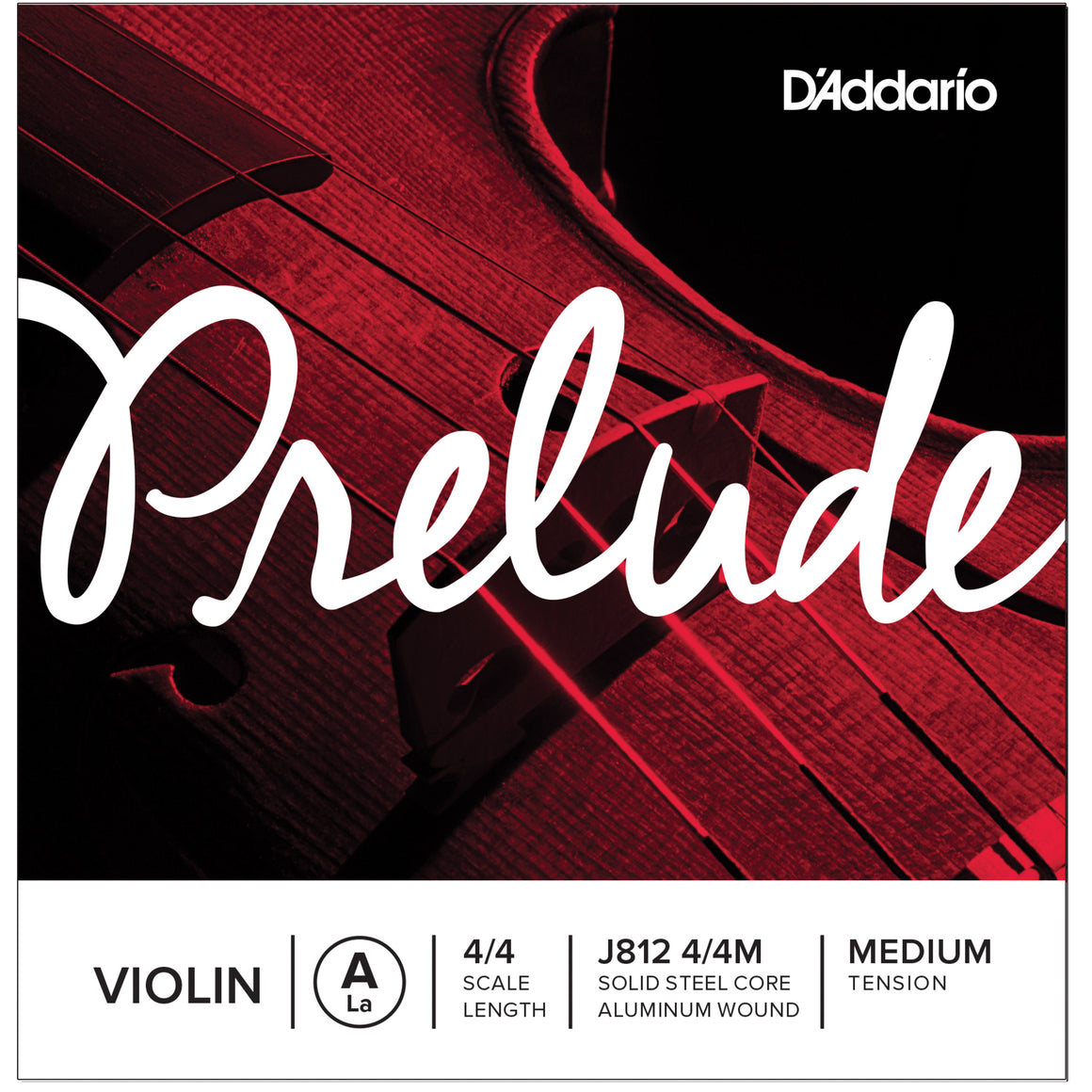 D'Addario Prelude 4/4 Full A Violin Single String Medium J812