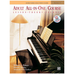Alfred's Basic Adult All-in-One Course Book 1 w/CD
