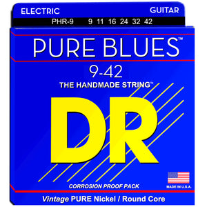 DR Strings PHR-9 9-42 Electric Pure Blue Strings