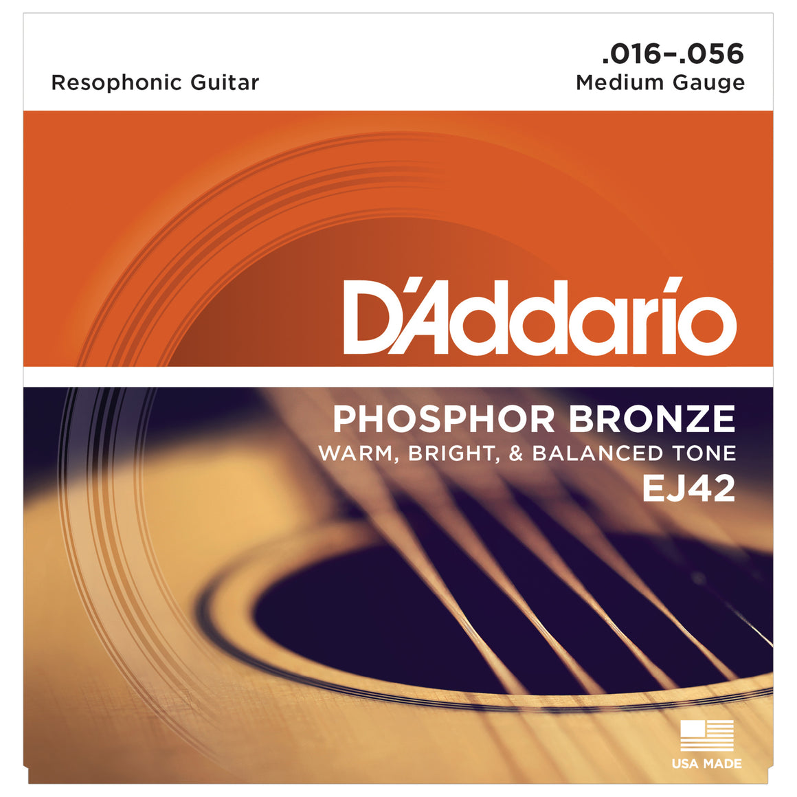 D'Addario EJ42 16-56 Phosphor Bronze Resophonic Guitar Strings