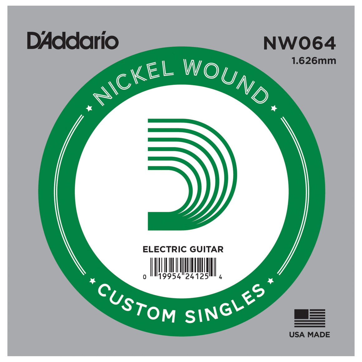 D'Addario NW064 Nickel Wound Single Guitar String .064