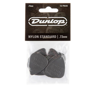 Dunlop 44p73 Nylon Standard .73 Gray Guitar Picks - 12 PACK