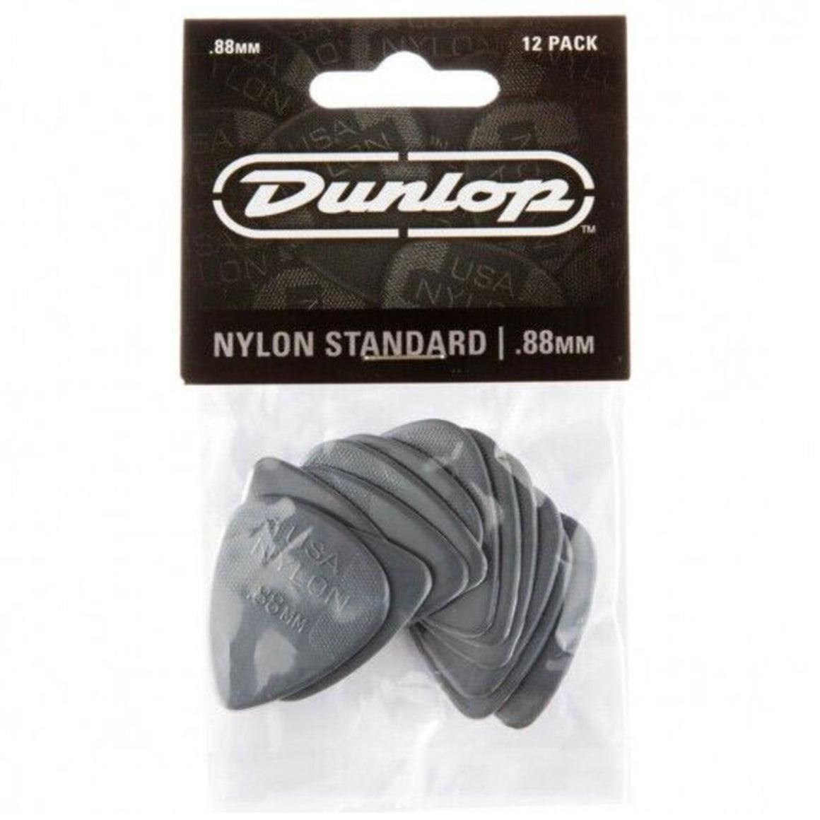 Dunlop 44p88 Nylon Standard .88 Dark Gray Guitar Picks - 12 PACK
