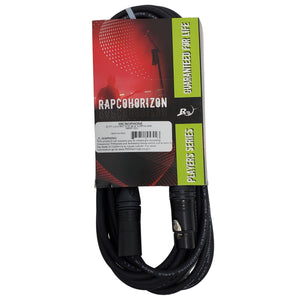 Horizon 20ft Lo-Z Mic Cable- Black Neutrik Connectors XLRF/XLRM  -NBM1-20
