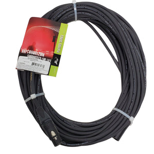 Horizon 75ft Lo-Z Mic Cable- Black Neutrik Connectors XLRF/XLRM  -NBM1-75