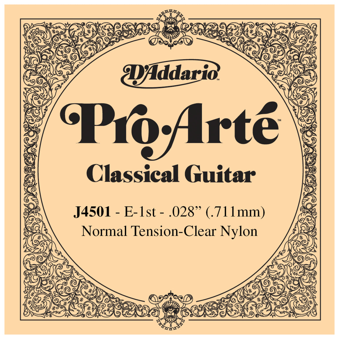 D'Addario Pro Arte 1st Nylon Single String .028 J4501