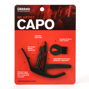 Planet Waves Ned Steinberger Black Artist Capo PW-CP-10