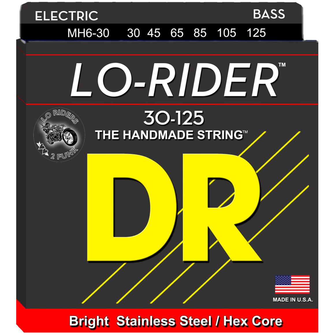 DR Strings MH6-30 30-125 6str Lo-Rider Bass Strings